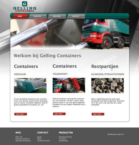 Gelling Containers Webdesign Studio CC