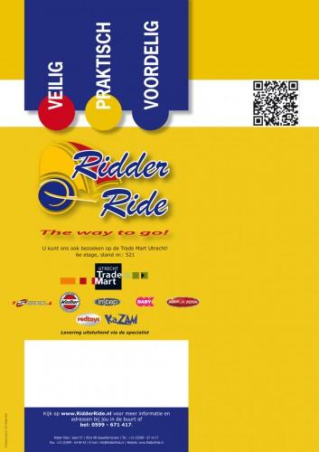 Studio CC Porfolio Ridder Ride Brochure 2012 achterzijde met QR Code