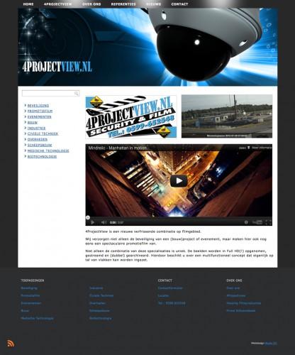 Studio CC realiseert nieuwe website voor 4Projectview, een unieke combinatie van beveiliging en film!